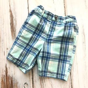 Children's Place Bottoms - Childrens Place teal blue striped shorts 3T